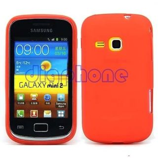 Red Matte TPU Silicone Gel Case Cover For Samsung Galaxy Mini 2 S6500