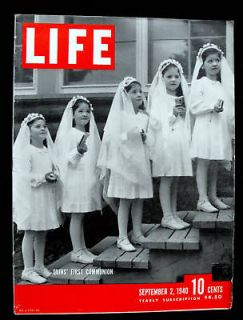 Dionne Quintuplets Trotsky Great Dictator Henry Wallace 1940 Sept Life