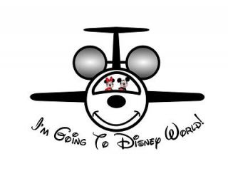 Personalized Mickey Mouse Disney Jet Plane Custom Iron On Transfer