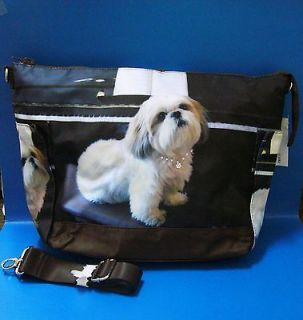 Dog Puppy Pet Shih Tzu Shoulder Tote Messenger Bag Handbag BAG124 NEW