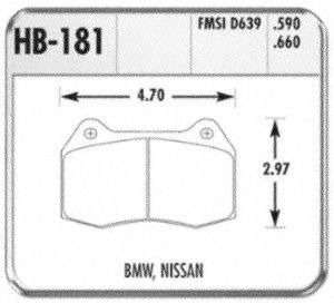Hawk Performance HB181Z.660 Disc Brake Pad