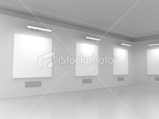 stock photo 16223953 modern gallery hall