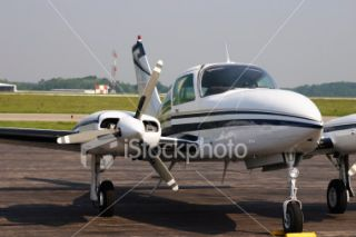 stock photo 638522 cessna 310 airplane on runway