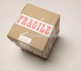 stock photo 9146707 fragile cardboard box