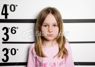 Mugshot of a Little Girl Royalty Free Stock Photo