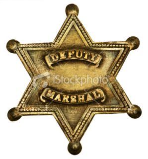 stock photo 8882279 authentic deputy marshall badge