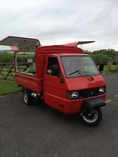 Piaggio Ape 200 cc TM. Coffee Van Gull Wing Special Edition. Exclusive