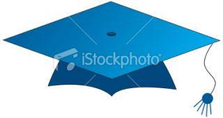 School graduation hat Royalty Free Stock Vector Art Illustration