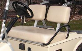 PACK 1981 99 81 99 Club Car Golf Cart Seat Covers White Bottom