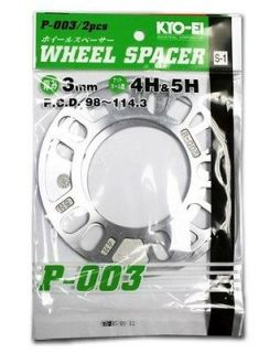JDM 3mm ALUMINUM WHEEL RIMS SPACER 5x100 5x114 5x112 4x100 4x114 FREE