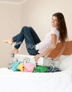 Valise, Femmes, Bagage, Empaqueter, Multicolore  Stock Photo  iStock