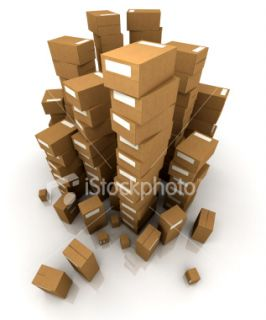 stock photo 4434241 huge piles of cardboard boxes