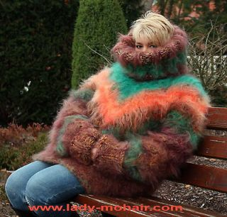 FUZZY AUTUMN mega thick & heavy fuzzy mohair t neck sweater