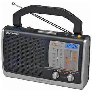 emerson rp6250 am fm tv sound radio time left $