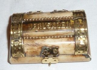 Newly listed Vintage JERUSALEM Box For Religious Item Icon Relic Charm