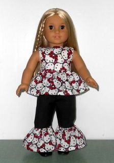 Beautiful 2 PC Hello Kitty Outfit Fits 18 American Girl Doll Clothes