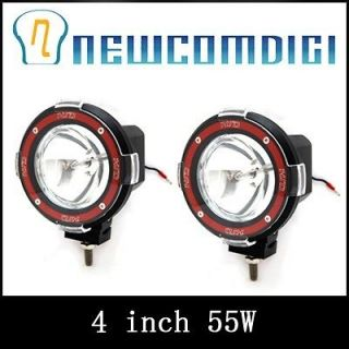 2X 4 55W HID XENON DRIVING FLOOD BEAM OFF ROAD WORK FOG LIGHT LAMP