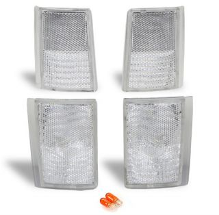 88 93 CHEVY GMC FULL SIZED TRUCK CLEAR CORNER LIGHTS (Fits GMC 1992