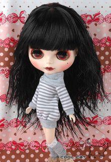 coolcat custom blythe wigs d2 0422 02 black from taiwan