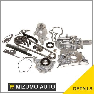 22re heavy duty timing chain cover kit oil water pump  109