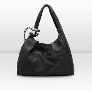 Pre owned Auth Jimmy Choo Black Nappa Leather Saba X Large Hobo Bag