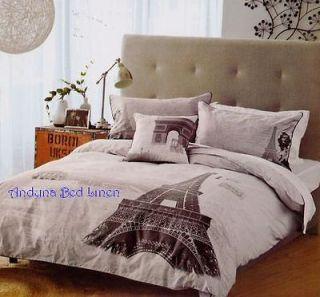 Eiffel Tower ~Paris~ 250 TC cotton Queen Size Quilt Cover Set New
