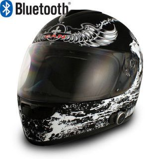 BRAND NEW V136 CRUSADER FULL FACE BLUETOOTH MOTORCYCLE HELMET DOT S M