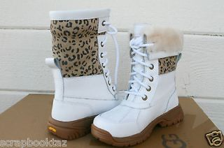 UGG BUTTE * KIDS/ GIRLS LEOPARD PRINT ALL WEATHER BOOT US13 REALLY