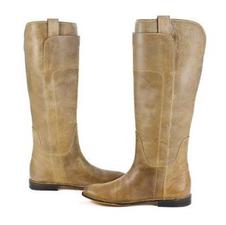 frye womens paige tall riding leather tan boot 7 5 new