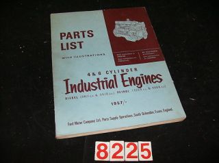 1957 1965 ford england industrial engine parts book time left