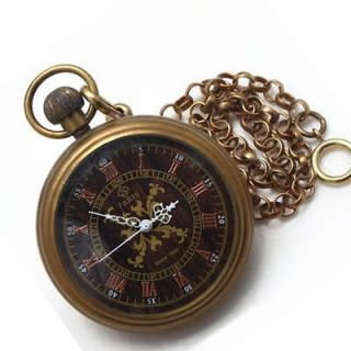 Newly listed 1882 PARIS Brass Antique Type Mechanical Pocket Watch