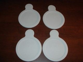 Set of 4 Corning Ware New White Plastic Lids For Grab it Bowls, P 150