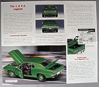 danbury mint 1969 chevy copo camaro sales brochure time left