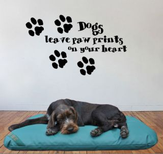 paw prints on your heart Giant Wall Art Mural,Large,Decal,Sticker,204