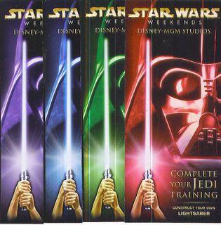 Star Wars Lightsaber folded paper kit premium complete set four colors