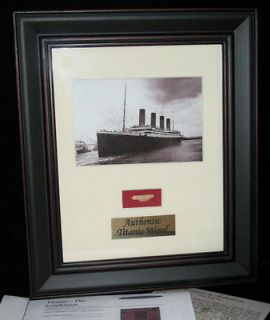Authentic Titanic Wreck Wood Framed Piece   White Star Line