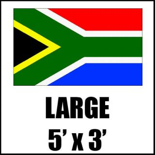 SOUTH AFRICA AFRICAN LARGE NATIONAL SUPPORTERS FLAG OLYMPICS SPORTS 5