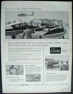 1957 print ad cessna 310 twins airplanes fast versatile time