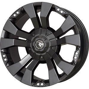 new 20x9 6x135 6x139 7 raceline whl black wheels