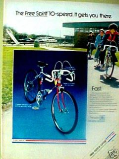 1973  free spirt 10 speed bike boys bicycle toy