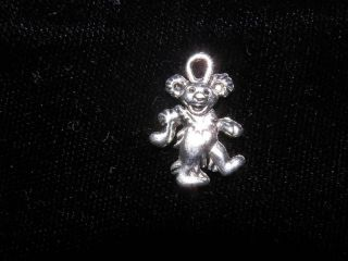 grateful dead dancing bear deadhead silver charm x2 time left