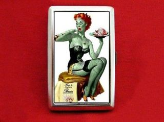 Newly listed ZOMBIE PIN UP GIRL VINTAGE BRAIN CIGARETTE ID IPOD CASE