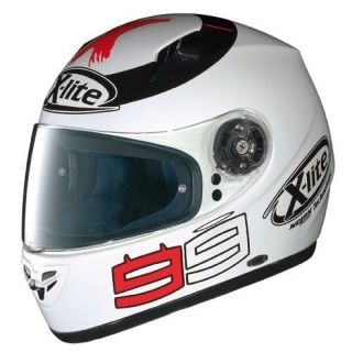 LITE X 602 GT LORENZO WHITE MOTORCYCLE HELMET + FREE UK DELIVERY