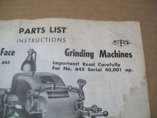 sioux 645 valve seat grinder parts list fresh copy of
