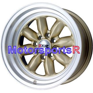 15 15x8 XXR 513 Gold Rims Wheels Deep Dish Lip 4x100 Stance 83 84 91