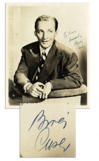 bing crosby autograph in Entertainment Memorabilia