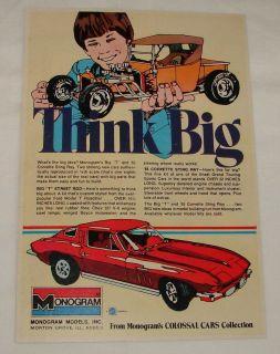 1976 monogram ad big t street rod 65 corvette sting