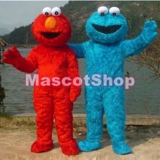 NEW SESAME STREET COOKIE MONSTER ADULT MASCOT CARTOON COSTUME