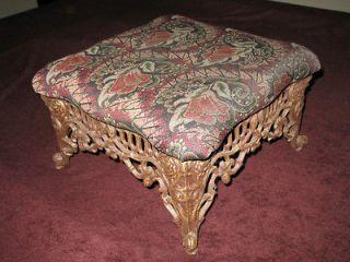 vintage victorian era cast iron base foot stool  89 99 0