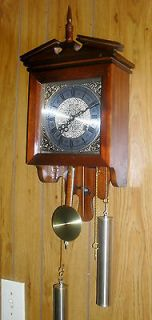New old stock Necor 31 day windup Chiming Wall clock Nice